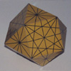 Cuboctahedron with great circle lines marked model