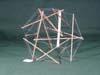 12 strut irregular octahedron tensegrity