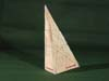 Paper tetrahedron with trig functions